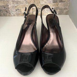 Life Stride- Patent Leather sling back heels